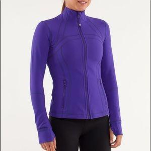 Purple lulu jacket sweater